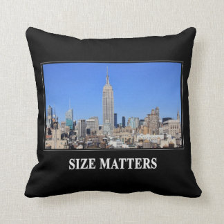Empire State Building, NYC Skyline: Size Matters Throw Pillow