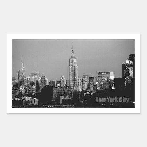 Empire State Building Pegatina Rectangular