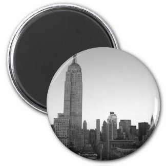 Empire State Building Photo 2 2 Inch Round Magnet