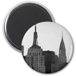 Empire State Building Photo 2 Inch Round Magnet