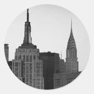 Empire State Building Photo Classic Round Sticker