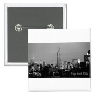 Empire State Building Pin Cuadrada 5 Cm
