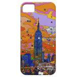 Empire State Building psicodélico y horizonte A1 iPhone 5 Cárcasas