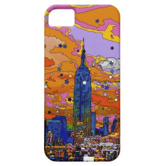 Empire State Building psicodélico y horizonte A1 iPhone 5 Carcasas