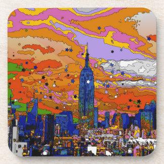 Empire State Building psicodélico y horizonte A1 Posavaso