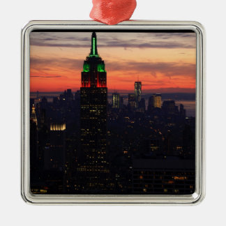 Empire State Building - puesta del sol 01 de los c Adornos