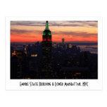 Empire State Building - puesta del sol 01 de los c Tarjetas Postales