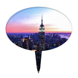 Empire State Building Puesta del sol Figura De Tarta