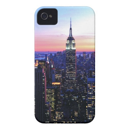 Empire State Building: Puesta del sol iPhone 4 Case-Mate Cobertura