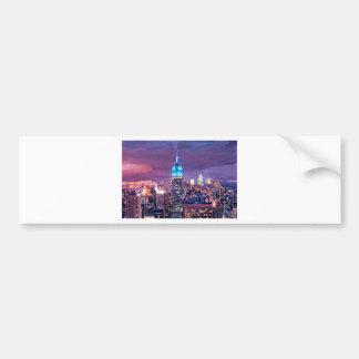 Empire State Building que siente como un gigante a Pegatina De Parachoque