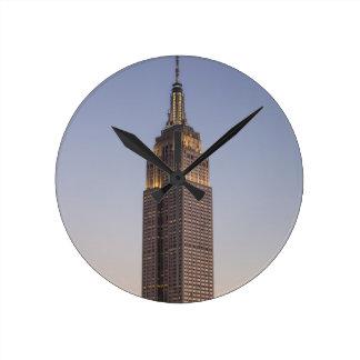 Empire State Building Round Clock