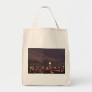 Empire State Building, shark-like cloud approaches Tote Bag