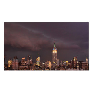 Empire State Building, shark-like cloud approaches Business Card