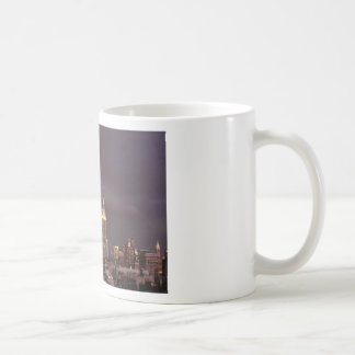 Empire State Building, shark-like cloud approaches Coffee Mug
