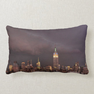 Empire State Building, shark-like cloud approaches Pillow