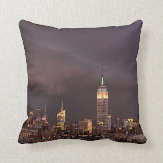Empire State Building, shark-like cloud approaches Pillows
