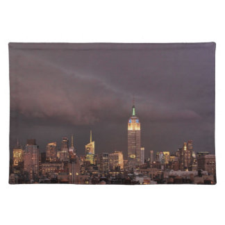 Empire State Building, shark-like cloud approaches Placemat