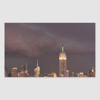 Empire State Building, shark-like cloud approaches Stickers