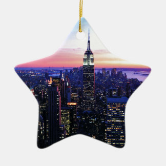 Empire State Building: Sunset Ceramic Ornament