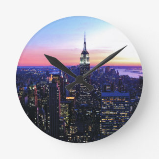 Empire State Building Sunset Wall Clocks