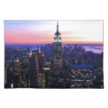 Empire State Building: Sunset Cloth Place Mat