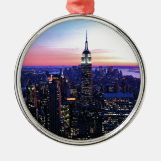 Empire State Building: Sunset Metal Ornament