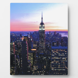 Empire State Building: Sunset Display Plaque
