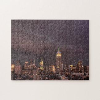 Empire State Building, tiburón-como acercamientos Rompecabeza Con Fotos