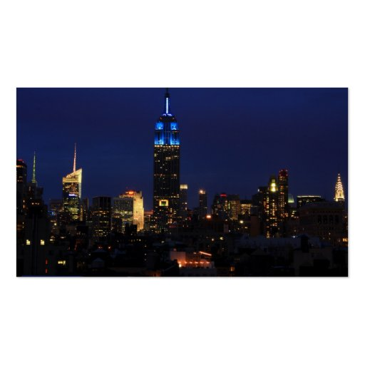 Empire State Building todo en el azul, horizonte d Tarjeta Personal