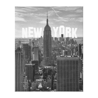 Empire State Building WTC BW 2C M del horizonte de Lona Envuelta Para Galerias