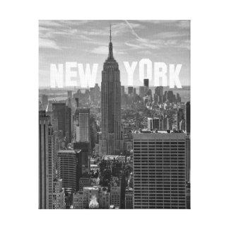 Empire State Building WTC BW 2C S del horizonte de Impresión De Lienzo