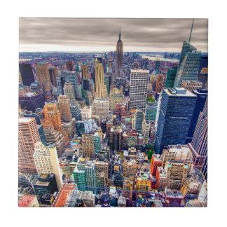 Empire State Building y Midtown Manhattan Azulejo Cuadrado Pequeño