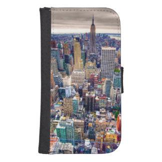 Empire State Building y Midtown Manhattan Funda Tipo Billetera Para Galaxy S4
