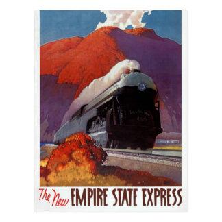 Empire State Express Vintage Poster Restored Postcard