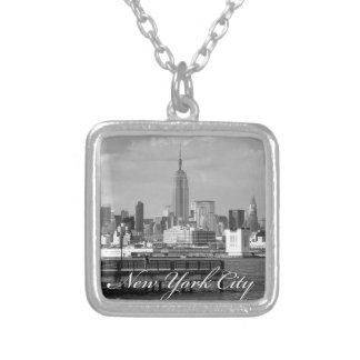 Empire State New York City Square Pendant Necklace