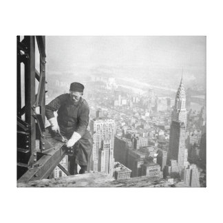 Empire State Steelworker, 1936 Canvas Print