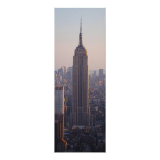 Empire State Sunset, July Poster