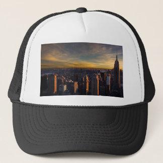 empire state sunset trucker hat
