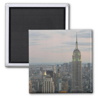 Empire State Twilight 2 Inch Square Magnet