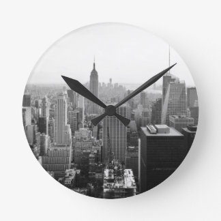 Empire States Building Manhattan Round Clock