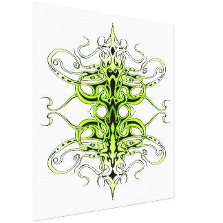 Empire Tribal Tattoo - green Canvas Print