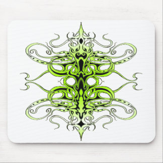 Empire Tribal Tattoo - green Mouse Pad