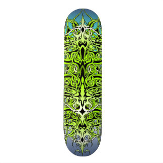 Empire Tribal Tattoo skateboard - green and blue