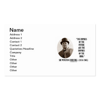 Empires Of Future Are Empires Of Mind Churchill Double-Sided Standard Business Cards (Pack Of 100)
