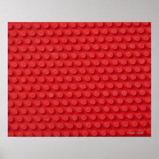 Emplea imagen macra de un ping-pong tachonado poster