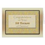 Empleado 30 años de servicio felicitacion