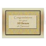 Empleado 35 años de servicio o de aniversario felicitaciones