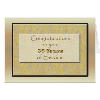 Empleado 35 años de servicio o de aniversario tarjeta de felicitación