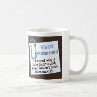 Empleado contrariedad taza básica blanca