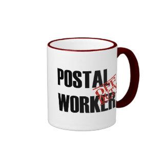 Empleado de correos fuera de servicio tazas